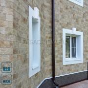 Внешняя отделка фасада дома из кирпича панелью NICHIHA EJB623