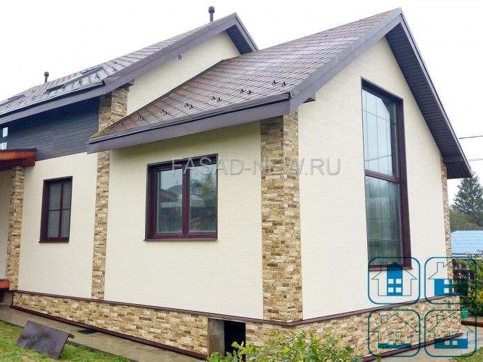 Фото фасадной панели для наружной отделки NICHIHA EJB5124 (под камень) и WFX563 (под штукатурку)