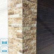 Фото сочетания панелей на фасаде NICHIHA WFX563+EJB5124+EFF164