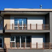 Отделка фасада дома — фиброцеметные панели NICHIHA серии W