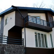 Японские фасадные панели под дерево и штукатурку