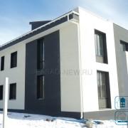 Фото: фасадные фиброцементные панели NICHIHA под белую штукатурку 3D EFX 2952, темную — EFX 3755. Владивосток 2017.
