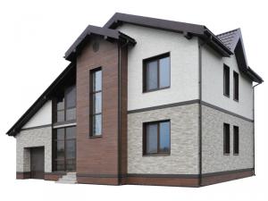 Бесшовные фасадные панели для дома НИЧИХА ФЬЮДЗЕ монтируются без швов, без герметика, смотрятся еще более натурально