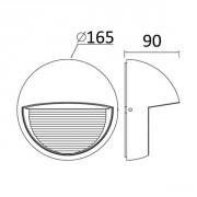 Размеры светильника SIDNEY 1865