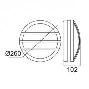 Размеры светильника SIDNEY Бра 3361