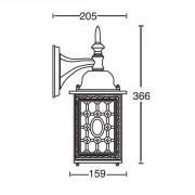 Размеры садово-паркового светильника LONDON 64802S