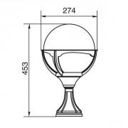 Размеры уличного светильника GENOVA 88104