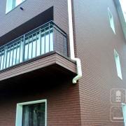 Вентилируемый фасад для таунхауса.