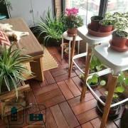 Напольное покрытие на балконе — садовый паркет 300х300 мм