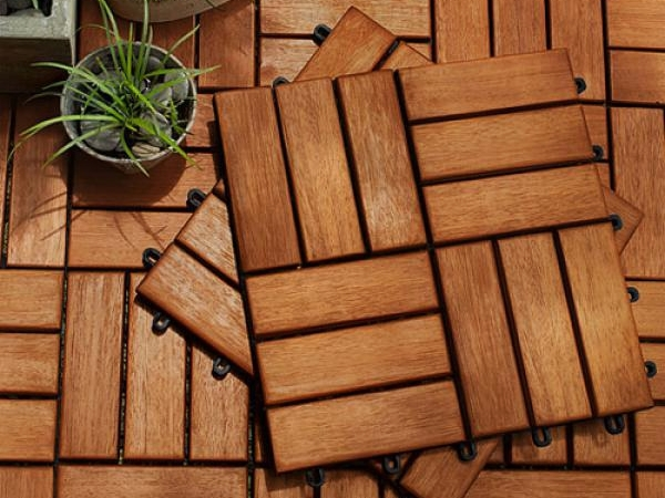 Плитки садового паркета для террасы, балкона, сауны