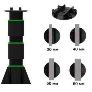 Регулируемая опора TAURUS высотой 310-520 мм для лаги