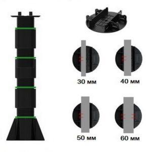 Регулируемая опора TAURUS высотой 410-690 мм для лаги