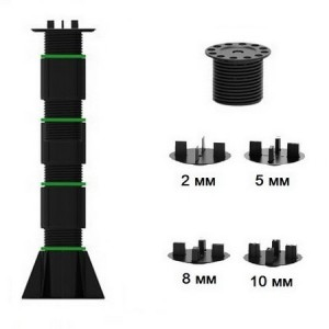 Регулируемая опора TAURUS высотой 410-690 мм для плитки