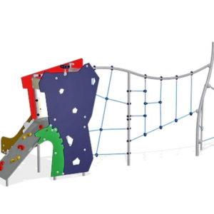 Детский игровой комплекс Башенка с сеткой для уличной площадки