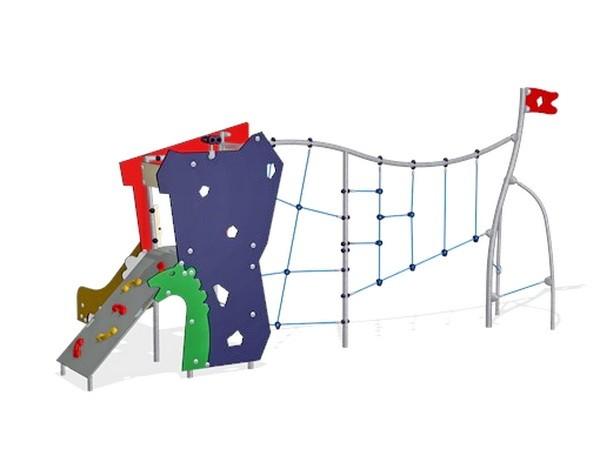 Уличный детский игровой комплекс Башенка с сеткой