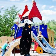 МАФ Замок с сеткой для детской площадки