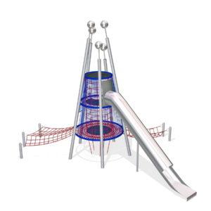 Детский игровой МАФ Лаборатория с горкой для уличной площадки