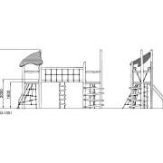 Высота детского комплекса Переправа