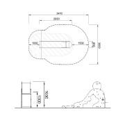 План детской горки M326