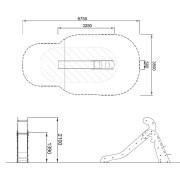 План детской горки M351