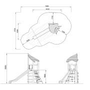 План детской горки NRO305 Kompan