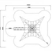 Размер конструкции для лазания Пирамида