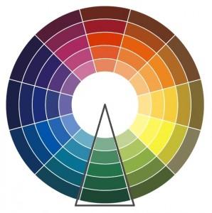 Цветовой круг оттенков цветов