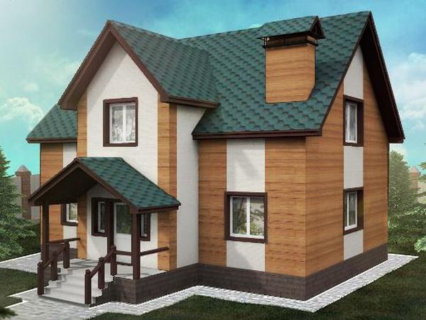 Подбор сочетания фасадных панелей с крышей дома