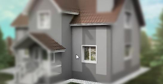Выбор элементов фасада для отделки. Шаг 2