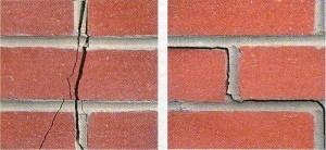 Трещины на облицовочном кирпиче