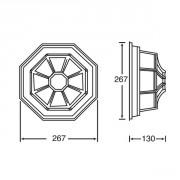 Размер потолочного светильника Сидней 10838