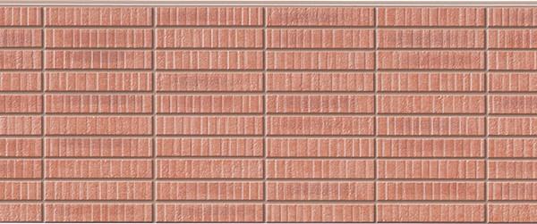 Бесшовная фиброцементная панель под красный клинкер NICHIHA FUGE EFF263P