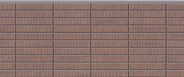 Бесшовная фиброцементная панель под коричневый клинкер NICHIHA FUGE EFF264P