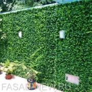Декорирование забра искусственной травой Барбарис зеленый