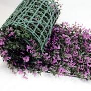 Искусственная трава в рулонах из модулей Самшит Фолкнер фиолетовый