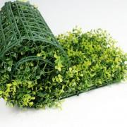 Искусственная трава в рулонах из модулей Самшит Фолкнер желтый