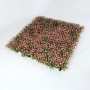 Искусственная зелень для изгороди Самшит зелено-розовый