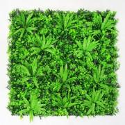 Пано из искусственных растений на стену