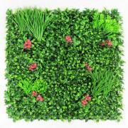Пано из искусственных цветов и растений для декора сены