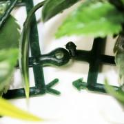 Папа-мама соединение модулей искусственной травы Лилии белые