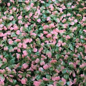 Искусственная зелень 1-P Самшит зелено-розовый в модулях для изгороди