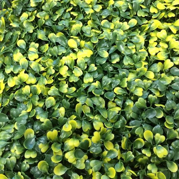 Зеленая искусственная изгордь Самшит желто-зеленый