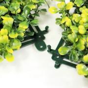 Соединение модулей зеленого ограждения Самшит желто-зеленый