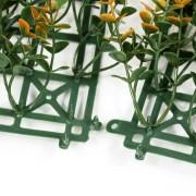 Соединение модулей зеленой изгороди Самшит Фолкнер оранжевый