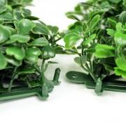 Соединение модулей зеленой изгороди Самшит темно-зеленый