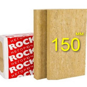 Минераловатная плита для вентфасада ROCKWOOL ВЕНТИ БАТТС 150 мм