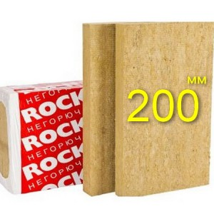 Минераловатная плита для вентфасада ROCKWOOL ВЕНТИ БАТТС 200 мм