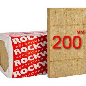 Минераловатная плита для вентфасада ROCKWOOL ВЕНТИ БАТТС Д 200 мм