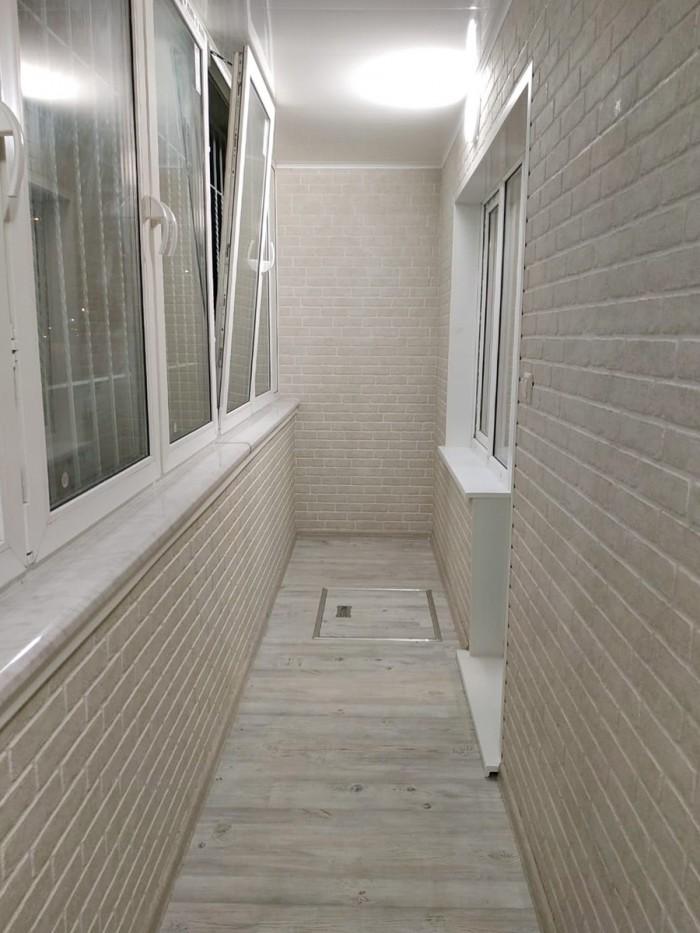 Фиброцементные панели под кирпич на балконе